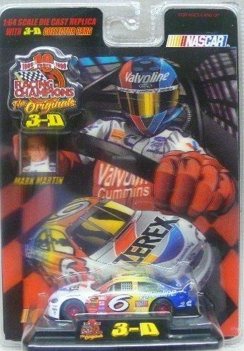 "Racing Champions - ""The Originals 3-D"" - 1999 - Mark Martin - No. 6 Valvoline Ford Taurus 1:64 Scale Die Cast Replica Car - NASCAR - 1"