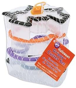 Wilton 4-Piece Grippy Halloween Cookie Cutter Set