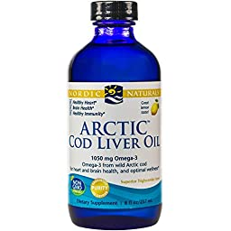 Nordic Naturals - Arctic CLO, Heart and Brain Health, and Optimal Wellness, Lemon 8 Ounces
