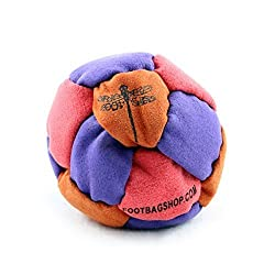 Dragonfly Footbags Red, Orange, And Purple Nemesis 14 Panel Sand Filled (Hacky Sack)