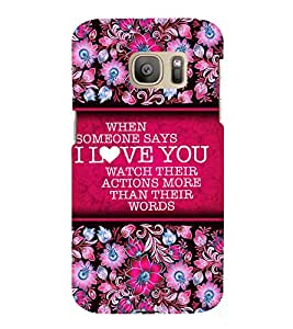 Love Message 3D Hard Polycarbonate Designer Back Case Cover for Samsung Galaxy S7 :: Samsung Galaxy S7 Duos G930F