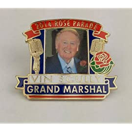 2014 Grand Marshal Vin Scully Rose Parade Pin