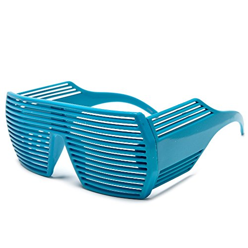 Sunglass Spot - Ultimate Kanye Hip Hop Shutter Party Shades In Multiple Colors (Electric Blue)