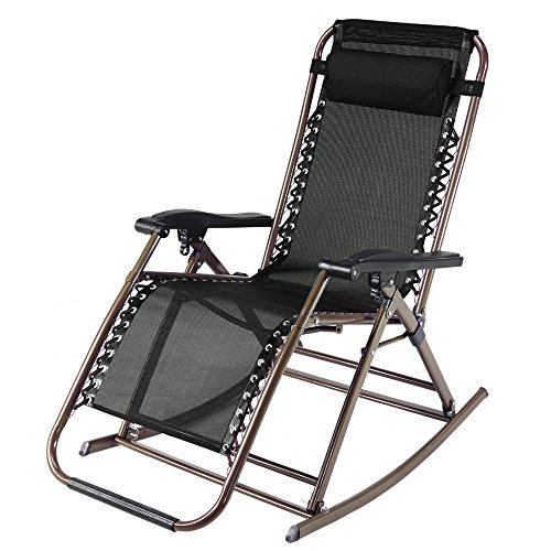 Infinity Zero Gravity Rocking Chair Outdoor Lounge Patio Recliner Chairs Camping