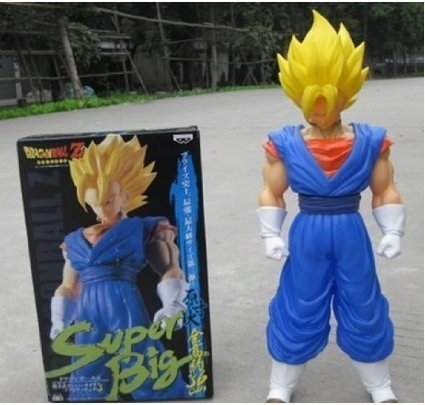 Super Big Size Dragon Ball Z GOKU Vegito PVC Collection Action Figure Anime Toy Model Doll Collection Character:Gogeta About 33cm (Gogeta Figure compare prices)