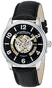 Stuhrling Original Men's 649.01 Legacy Analog Display Automatic Self Wind Black Watch