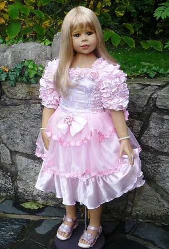 Masterpiece Dolls Anna-Blonde With Brown Eyes By Monika Levenig Collectible Doll