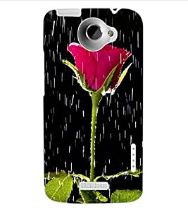 ColourCraft Beautiful Rose Design Back Case Cover for HTC ONE X