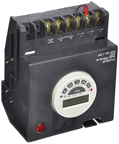 P1100 Series Swimming Pool Timers, 7 Day Digital Control, 240 VAC Input Supply, DPST Contact, 40A Resistive/Inductive Rating, 7.5 Hp (Swimming Pool Electronics compare prices)