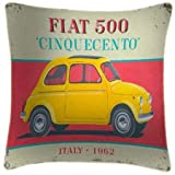 Fiat 500 Cinquecento - Martin Wiscombe - Art Print Cushion