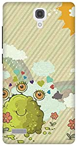 The Racoon Lean Sludge Monsters hard plastic printed back case/cover for Xiaomi Redmi Note