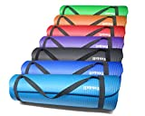 Yes4All Premium 1/2-Inch Extra Thick Exercise Yoga Mat with Carry Strap