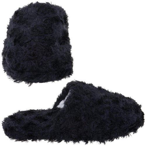 Cheap Black Slippers for Women (B005Y4RL36)