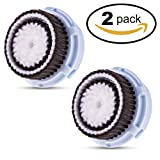 Procizion Compatible Replacement Brush Heads for Delicate Skin Prone to Irritations and Dehydration Works with Mia, Mia 2, Mia 3, Aria, Pro, PLUS, Smart Profile, Alpha Fit and Radiance Face Cleansing Systems (Twin Pack)