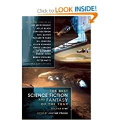 The Best Science Fiction  and Fantasy of the Year Volume 5 by Jonathan Strahan