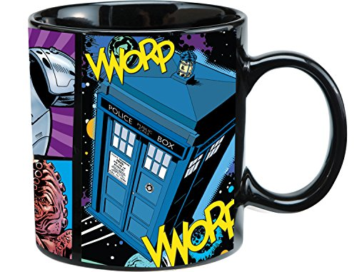 Vandor 16161 Doctor Who Ceramic Mug, 20-Ounce, Multicolored