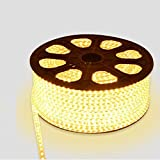 Water Proof 100 METER LED (STRIP LIGHT,COVE LIGHT) Rope Light Color: WARM WHITE With Adapter