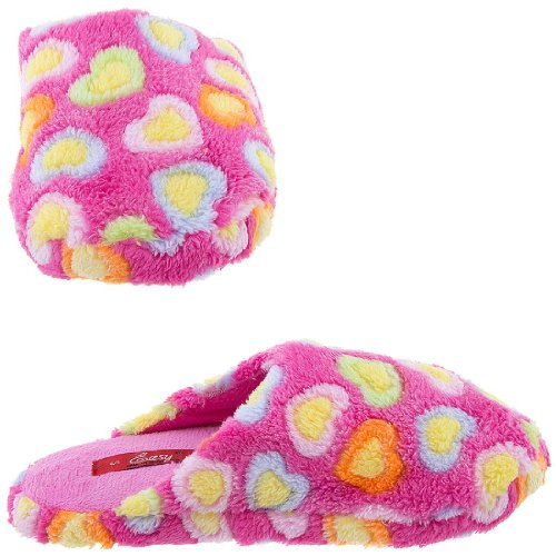 Cheap Easy Pink Heart Slippers for Women (B009TH3I18)