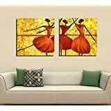 2 Painting Sets Of Beauty Of The Dance Of Three Tribes Canvas Oil Painting Print With Wooden Mounting | Printasia...