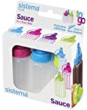 Sistema To Go Collection Sauce Container/Squeeze Bottle, 1.1 Ounce each, Assorted Colors, Set of 3