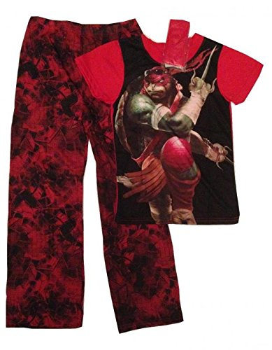 Teenage Mutant Ninja Turtles Boys 2 Piece Pajamas Sleep Set with Mask