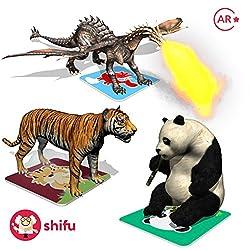 Shifu Safari Augmented Reality Learning Games, Multi Color (60 Animal Cards)