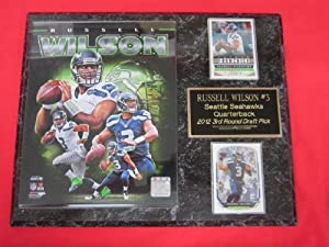 Russell Wilson Seattle Seahawks 2 Card Collector Plaque w 8x10 Photo! by J & C Baseball Clubhouse