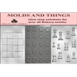 Molds and things 3-Piece Chess and Checkers Pieces and Board Chocolate Molds