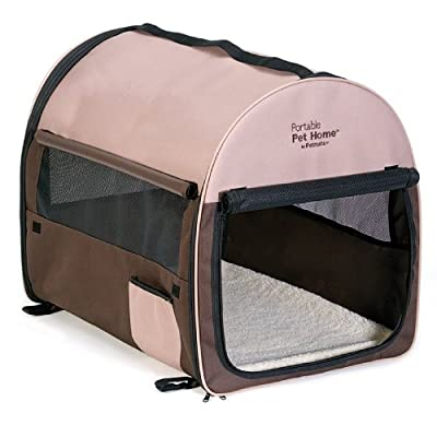 Petmate Portable Pet Home, Dark Taupe/Coffee Grounds Brown