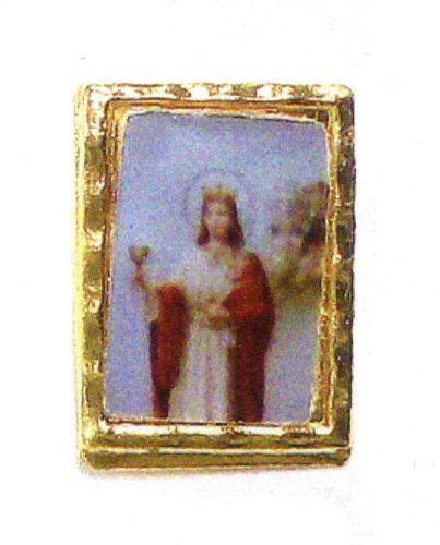 Lapel Pin - Saint Barbara - Clear Covering - Exclusively from the Studios of Cromo NB (Milano, Italy)