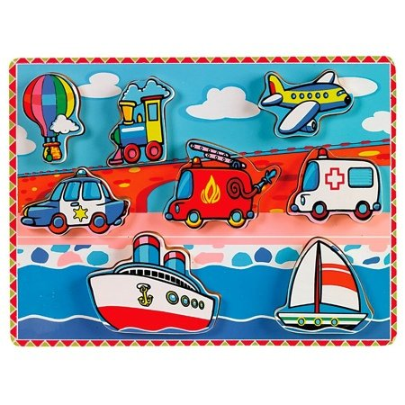 Small World Toys Ryan'S Room -Wooden Puzzle - Transportation front-658654