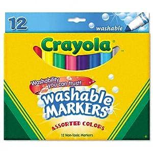 Amazon.com: Crayola Washable Markers, 12 Markers, Assorted