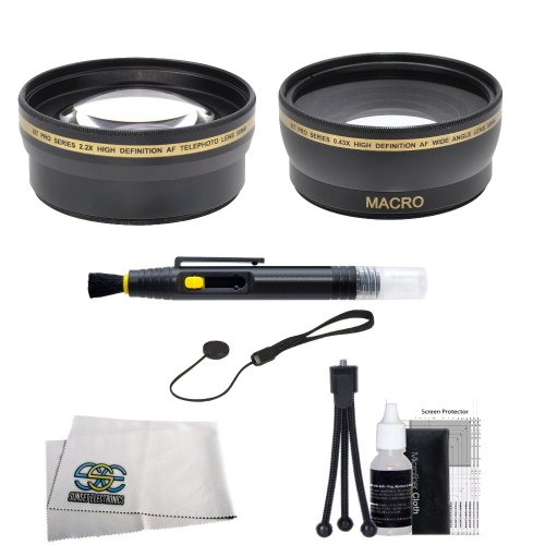 Sse 58Mm Wide Angle & Telephoto Lens Kit For Canon Sl1 T5 T3 T5I T4I T3I T2I T1I Xsi Xs 60D 70D 7D Dslr Cameras Which Have Any Of These 18-55Mm, 55-250Mm, 75-300Mm Iii, 70-300Mm Is Usm, 24Mm F2.8, 28Mm F1.8, 50Mm F1.4, 65Mm F2.8, 85Mm F1.8, 90Mm F2.8, 100