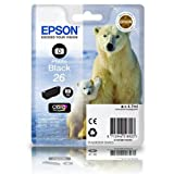 C13T26114010 Photo Black Original 26 Ink Cartridge (Polar Bear). For Epson Expression Premium XP 600/ 605/ 700/ 800.