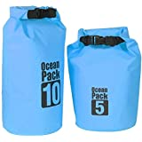 OUSPOTS Waterproof Dry Bags + Single Shoulder Strap , Durable Folding Gear Dry Bag For Swimming/camping/Hiking...