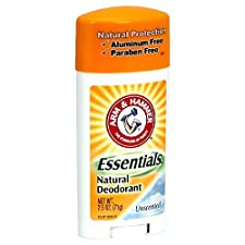 Arm & Hammer Essentials Natural Deodorant, Unscented, 2.5 oz (71 g)