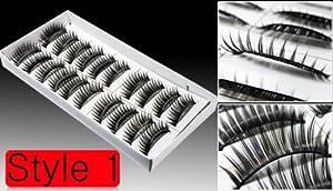 10 Pair of Thick False Eyelashes