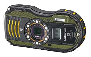 Pentax Optio WG-3 GPS green 16MP Waterproof Digital Camera with 3-Inch LCD Screen (Green)