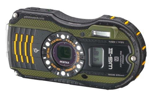 Pentax Optio WG-3 GPS green 16MP Waterproof Digital Camera with 3-Inch LCD Screen (Green)