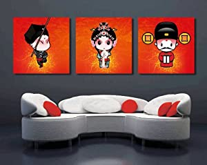 Gallery Canvas Art-Traditional Chinese Art Large Wall Art Canvas Picture Artwork 3 pieces ready to hang #08-193