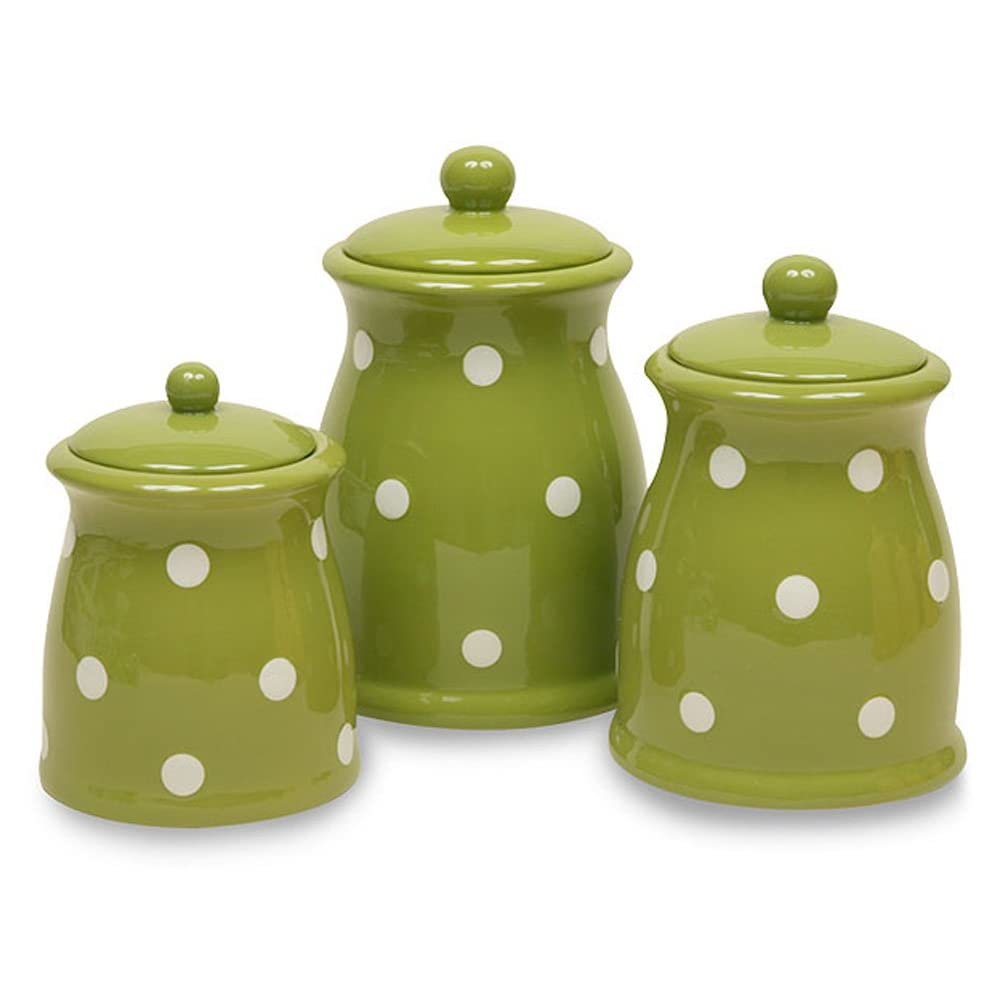 hunting for green canisters thenest blown glass canisters collection rooster kitchen