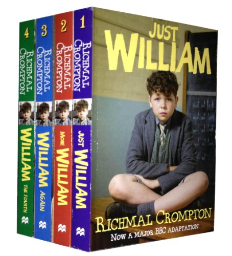 Just William Series 4 Books Set Pack Collection (Just William, More William, William Again, William - The Fourth) (Just William Series) (Just William Series)