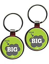 Think Big Inspiring Quote Metal Key Chain Set Of 2