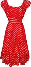 Polkadot Peasant Sundress Rockabilly