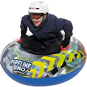 Buy Aqua Leisure Winter Inflatable Round Snow Tube Transparent Sled for 1 ( one ) Single Rider on Sledding Hill, Fast yet... by Aqua Leisure