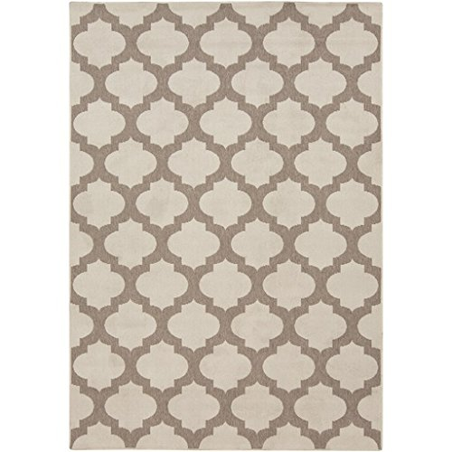 2.5' x 5.5' Moroccan Gateway Taupe Brown and Beige Area Throw Rug