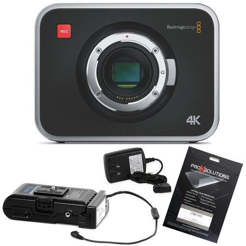 Blackmagic Production Camera 4K With Switronix Powerpack & Ocp Screen Protector front-1035965