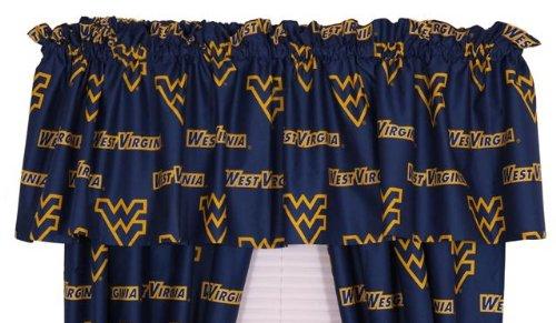 Ncaa Cotton Sateen Curtain Valance Ncaa Team: West Virginia front-913915