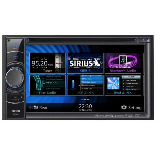 Clarion Nx501 6-Inch Double Din Multimedia Control Station With Touch Panel Control, Usb And Built-In-Navigation/Bluetooth