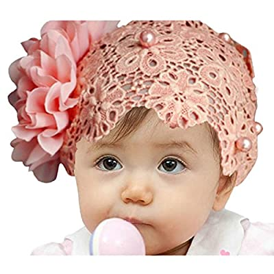 Doinshop Colorful Baby Kids Lace Flower Headband Hair Bow Band Accessories Headwear
